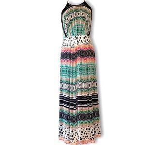 V Cristina Multicolor Maxi Dress